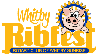 logo for Whitby Ribfest presented by the Rotary Club of Whitby Sunrise